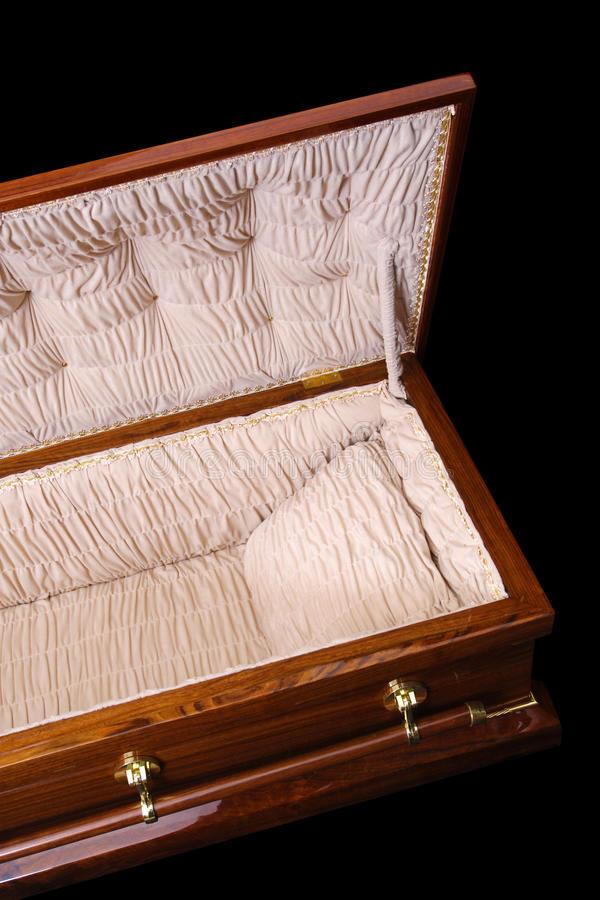 sonhar com caixão aberto