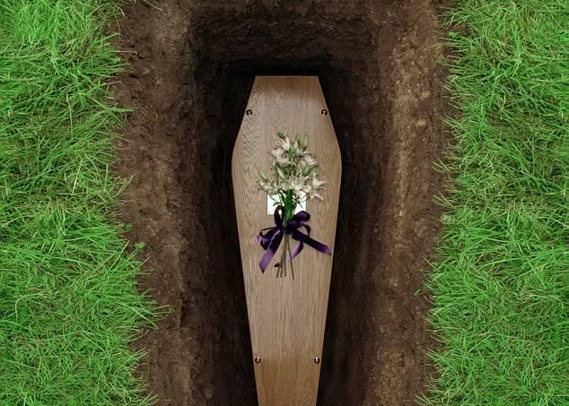 sonhar com caixão no cemitério
